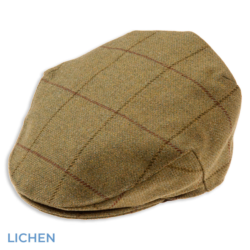 Lichen Alan Paine Rutland Waterproof Tweed Flat Cap