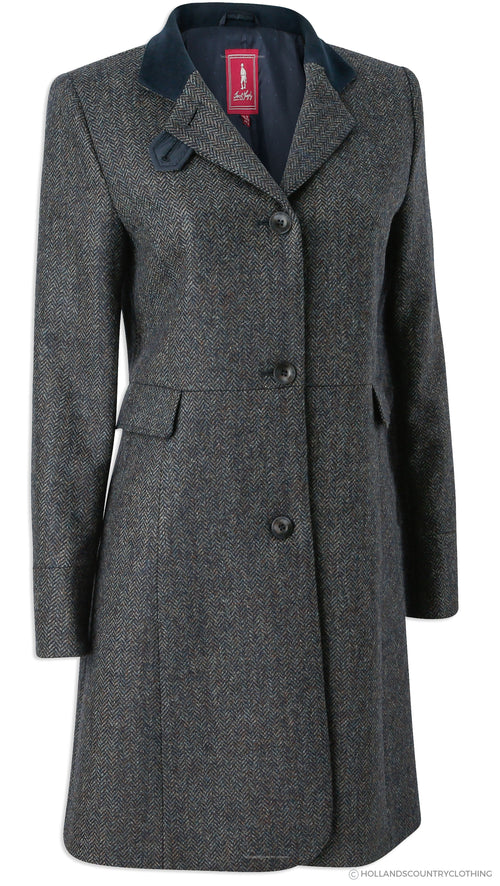 Jack Murphy Pamela Tweed Coat | Navy Teal