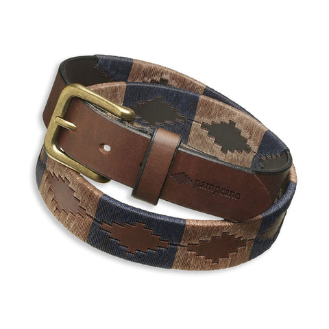 Pampeano Jefe Polo Belt | Navy Brown