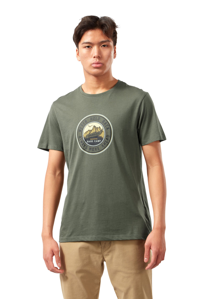 Parka Green Mightie Short Sleeve Cotton T-Shirt by Craghoppers