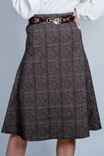 Herringbone tweed skirt