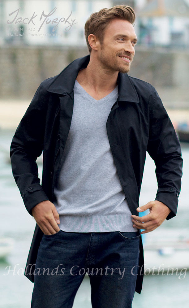 man wearing Jack Murphy Patrick Men's Waterproof Mac
