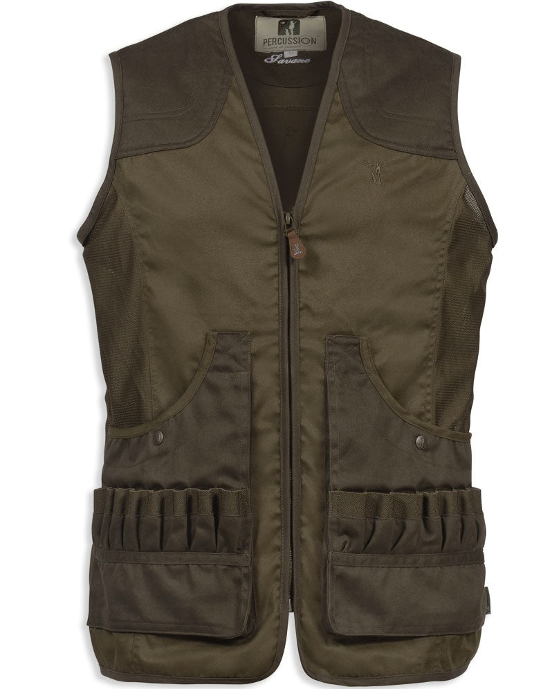 Percussion Savane Shooting Vest in Khaki