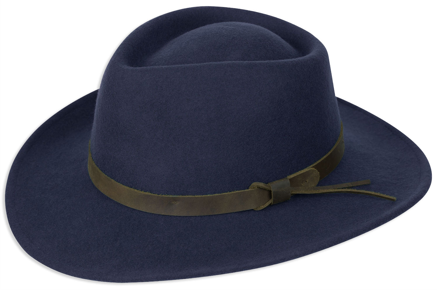 Navy Hoggs of Fife Perth Crushable Felt Hat