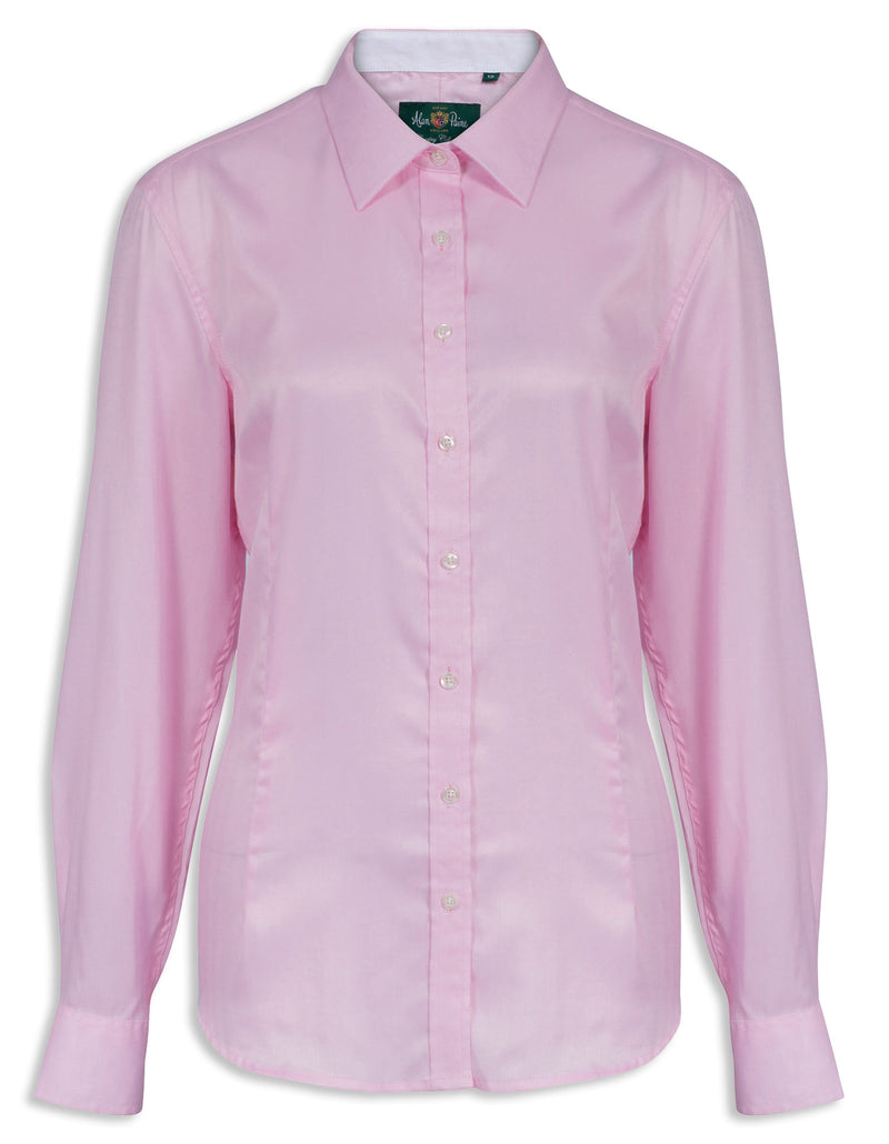 Pink Bromford Country Cotton Shirt by Alan Paine