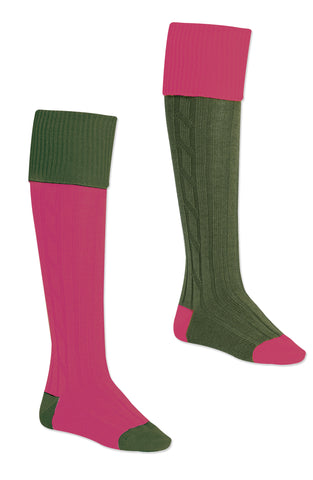 pink and green shold never be seen Alan Paine Ladies Long Sock