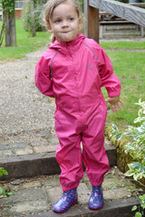 Pink Girl in Splashaway Rainsuit