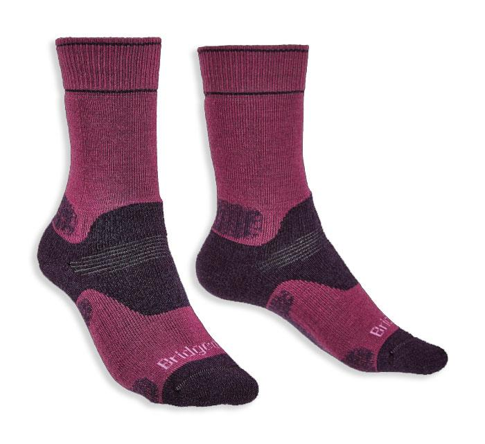 Plum Ladies Hike Merino Performance Sock by Bridgedale