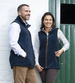 wearing at the stables Highfield Fleece Waistcoat by Baleno