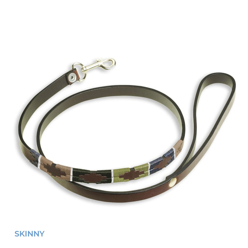 Skinny Small Dog Pampeano Caza Leather Dog Lead