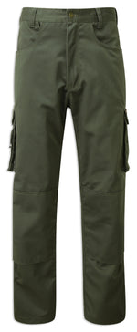 Green Multi pocket work trousers