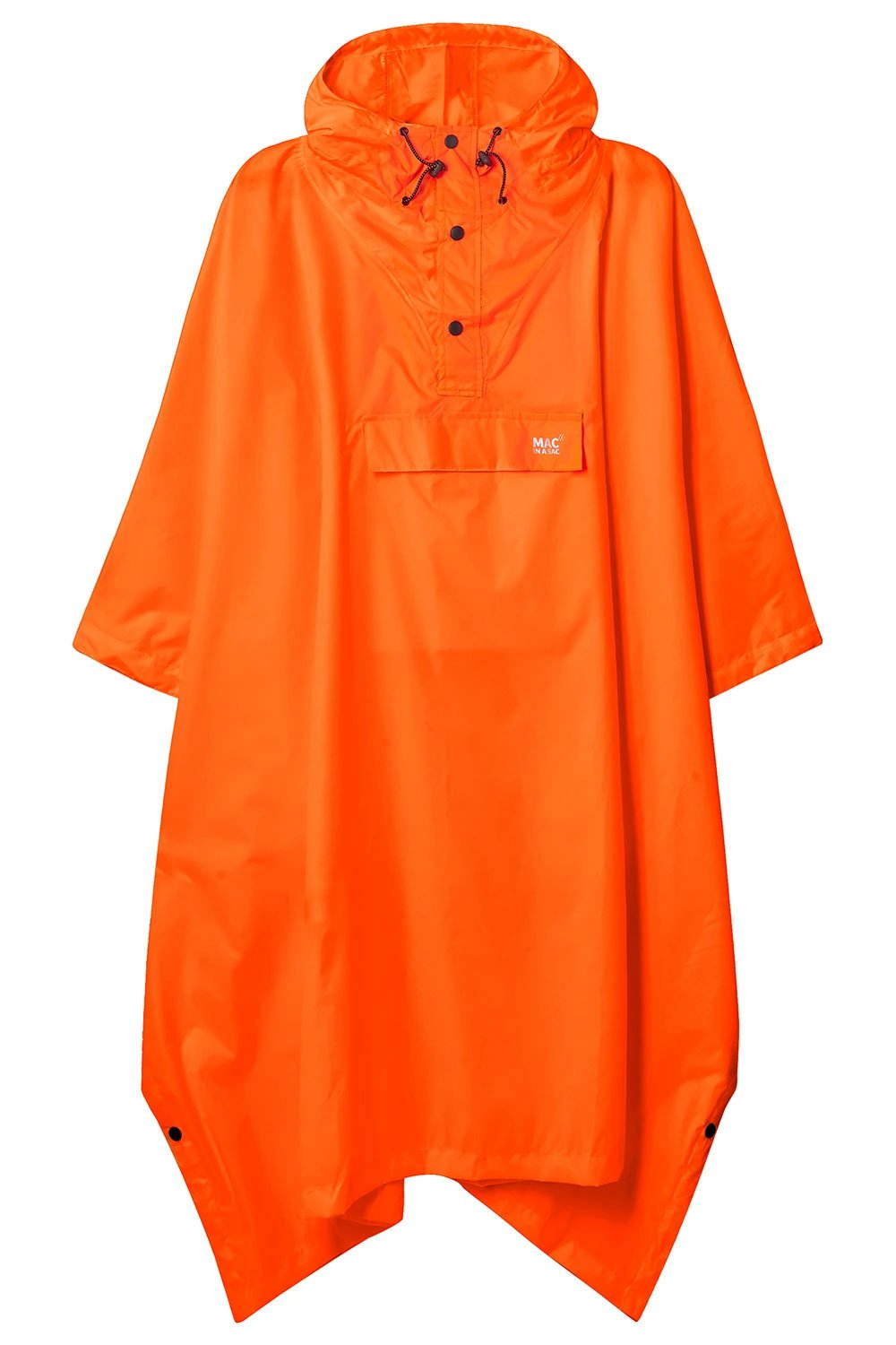 Mac In A Sac Waterproof Poncho | Neon Orange