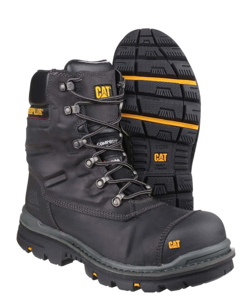 CAT Premier Composite Toe TX S3 Leather 8 Inch Work Boot