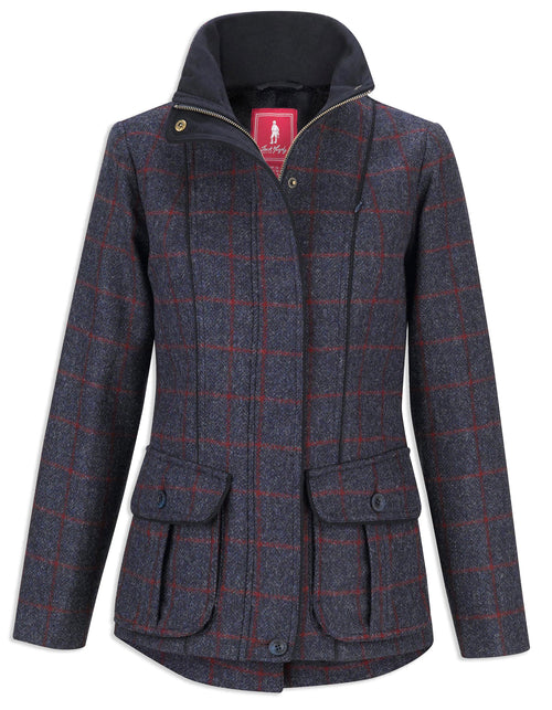 Jack Murphy Prue Tweed Jacket | Check Navy
