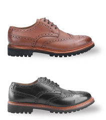 Cotswold Quenington Commando Sole Brogue Shoe | Black, Brown