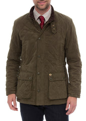 Man wearing Felwell Quilted Jacket by Alan Paine