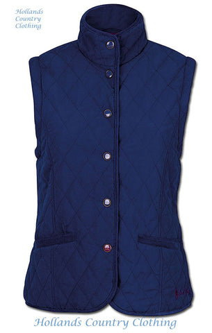 Scarlet Ladies Quilted Gilet by Jack Murphy