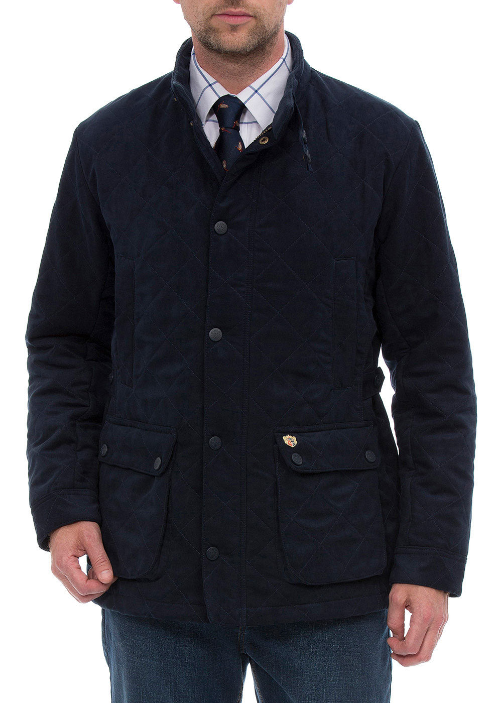 Manwearing Alan Paine Felwell Quilted Jacket Colour Navy