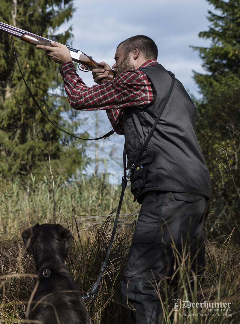 shotgun shooting with Reims Multi Pocket Vest by Deerhunter