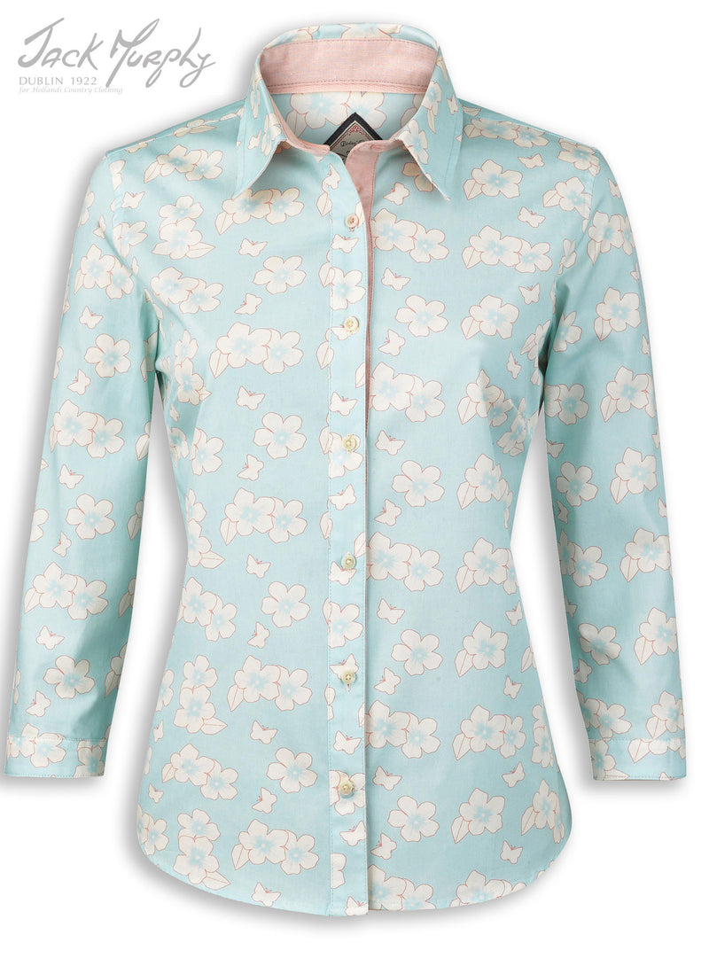 Jack Murphy Rosemary Shirt in Heavenly Butterfly all cotton