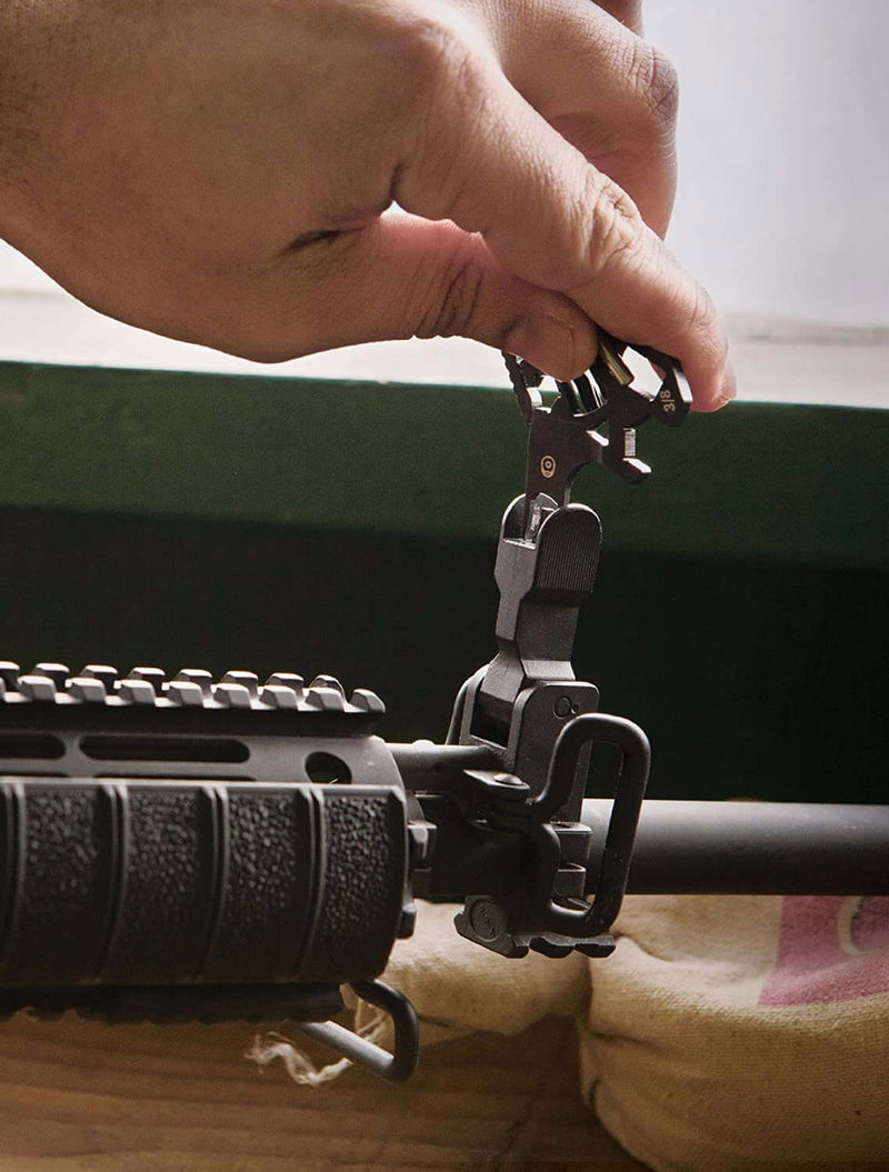Adjusting a gun sight