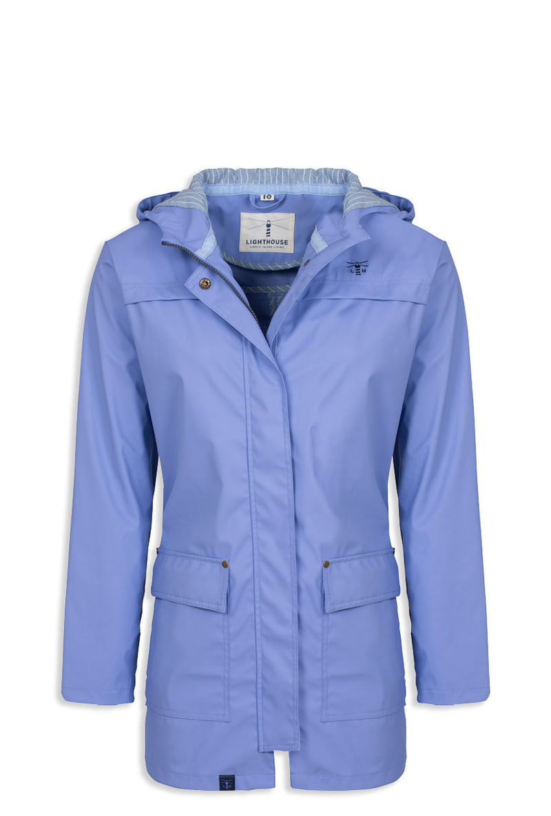 Lilac colour waterproof coat