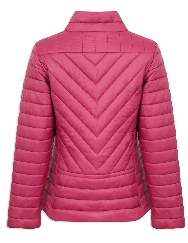 Back view chevron pattern Champion Frimley Baffle Quilted Jacket