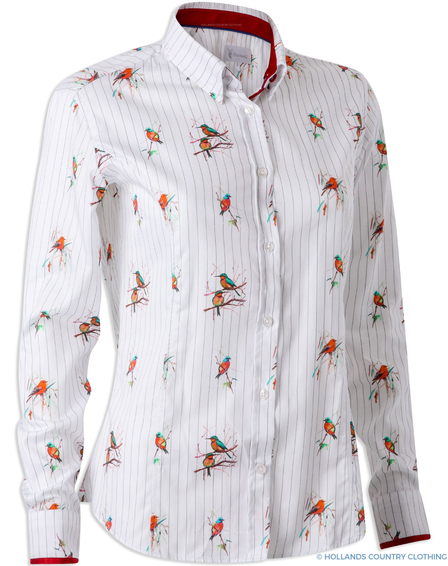 Hartwell Layla Cotton Shirt | Red Birds white shirt