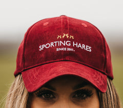 Bright Red Ladies Baseball cap