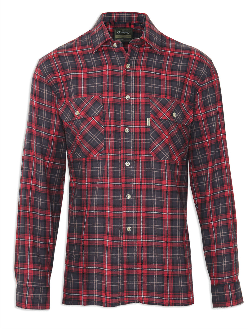 Tartan Lumberjack Shirt Kilbeggan by Champion in three traditional Tartans Colours, Red Plaid,