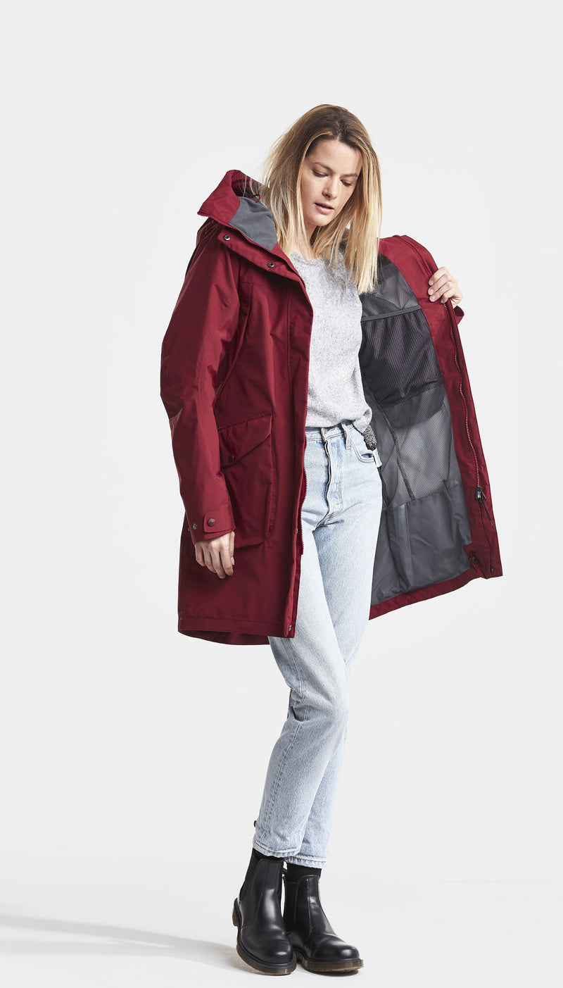 Elemental Red Didriksons Ladies Thelma II Waterproof Coat