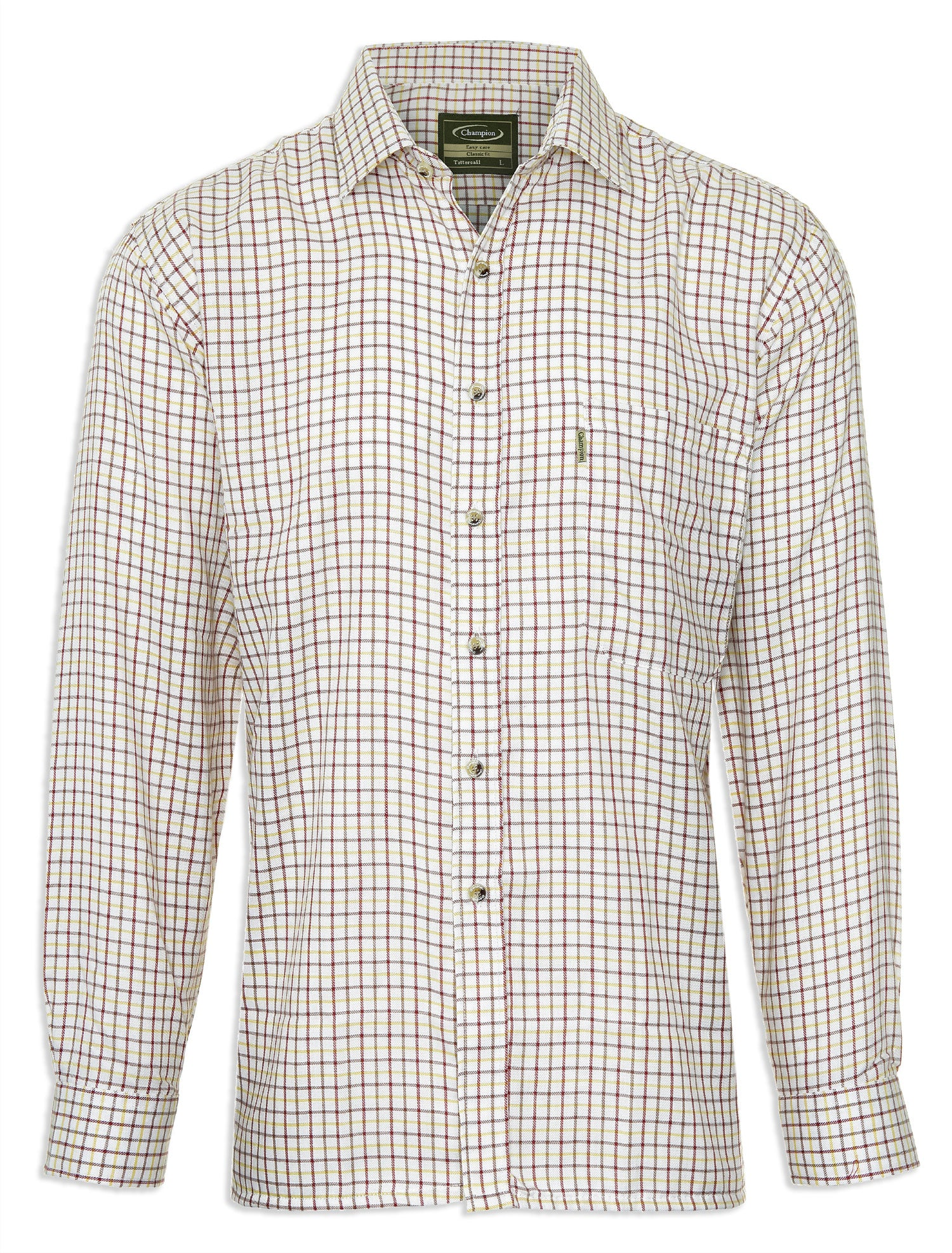 Red and Gold Champion Tattersall Country Shirt