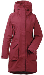 Elemental Red Didriksons Ladies Thelma II Waterproof Coat Front