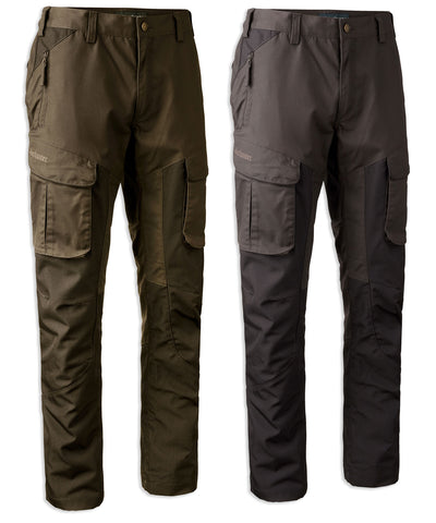 Deerhunter Reims Trousers with Reinforcement | Dark Elm and Dark Night Green