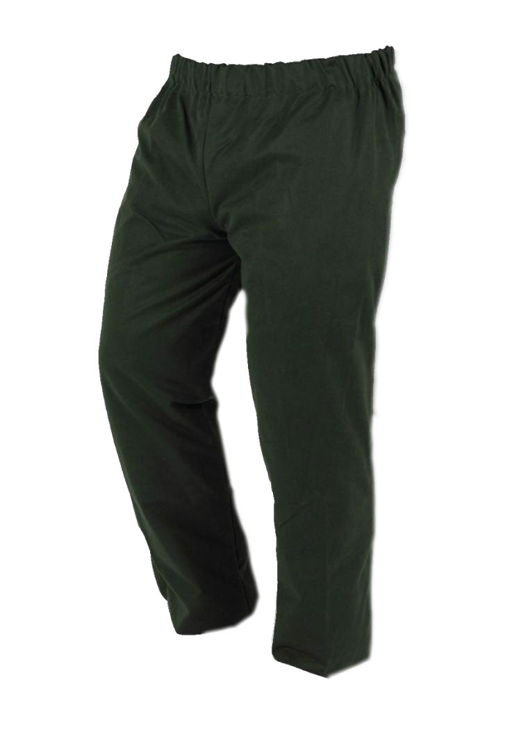 Waxed overtrousers Green Water resistant