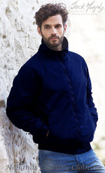 man wearing Jack Murphy Rockall Navy  Blouson Short Jacket