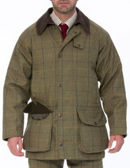 Dark Moss Alan Paine Rutland Waterproof Tweed Shooting Coat