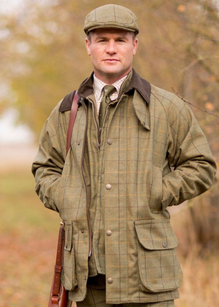 Rutland Men's Tweed Waterproof Shooting Jacket - Classic Fit