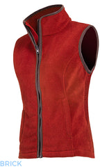 brick colour Baleno Sally Ladies Fleece Gilet