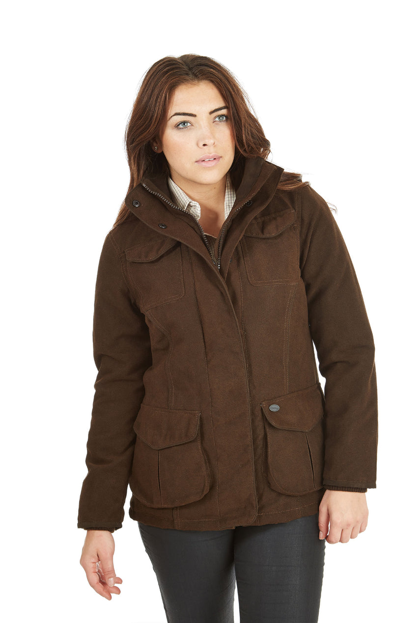 woman wearing Sherwood Forest Hampton Waterproof Jacket