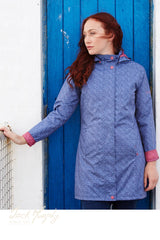 Sophia is a lovely update on in blue Jack Murphy's bestselling Henley Raincoat, Poly Twill fabric