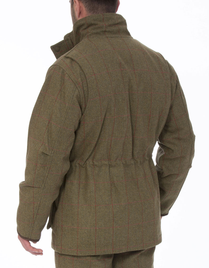 shooting back Combrook Men's Tweed Shooting Field Coat by Alan Paine