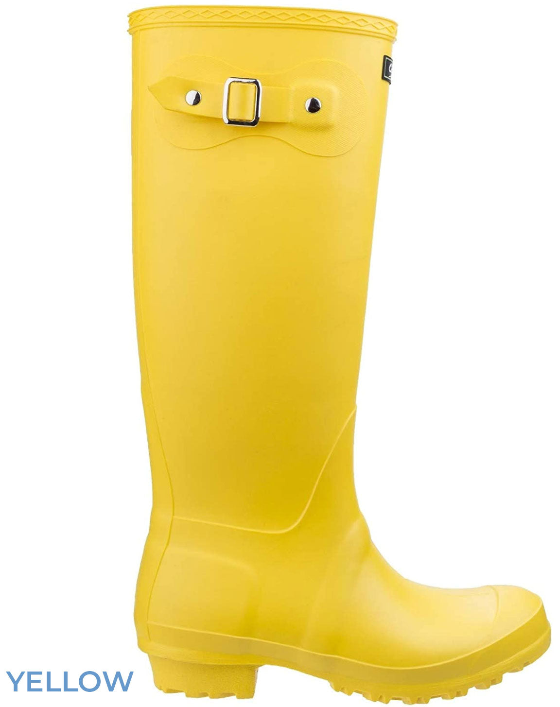 Yellow laides wellingtons
