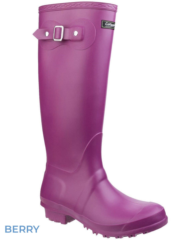 Cotswold Sandringham Buckle Strap Wellingtons Berry