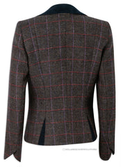 rear View Jack Murphy Sasha Tweed Jacket | Deep Burren