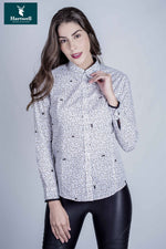 beautifully bucolic ladies blouse is 100% cotton