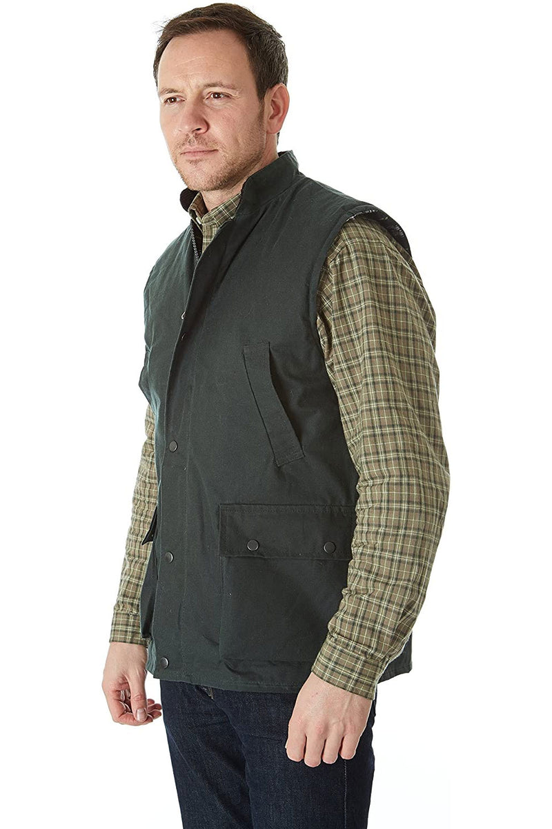 Sherwood Forest Wax Gilet Green