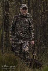 Lady Christine Waterproof Camouflage Jacket by Deerhunter with dog