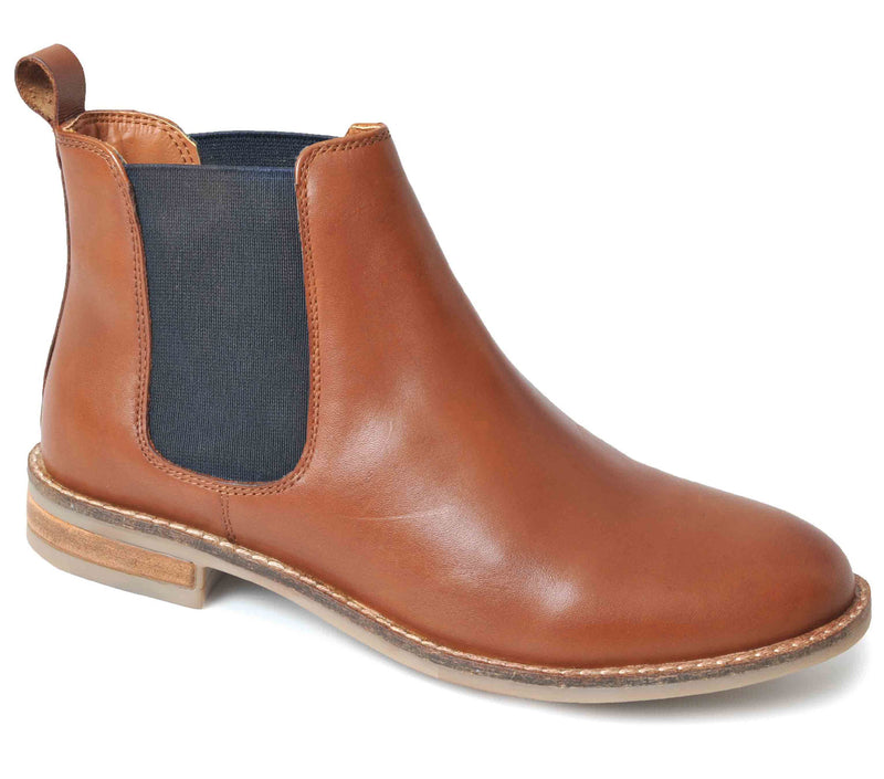 'Jenny' Leather Elastic Gusset Boot by Silver Street