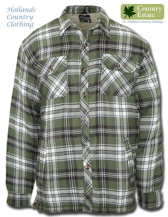 Champion Skye Fleece Lined Shirt Skye	in Green